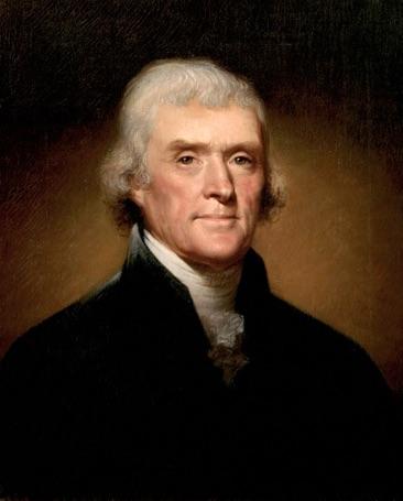 Thomas Jefferson warning banks can be dangerous