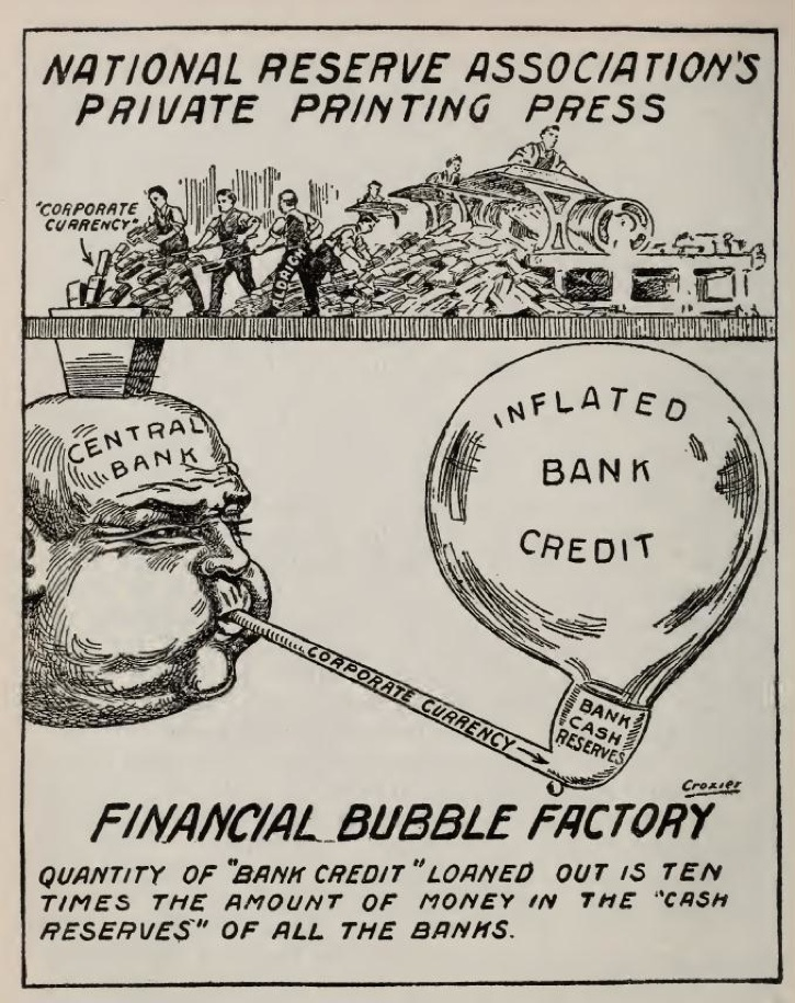 Central bank blowing a financial bubble